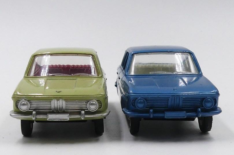 Dinky Toys France BMW 1500 modèle de pré-série (essai de couleur) et modèle de série
