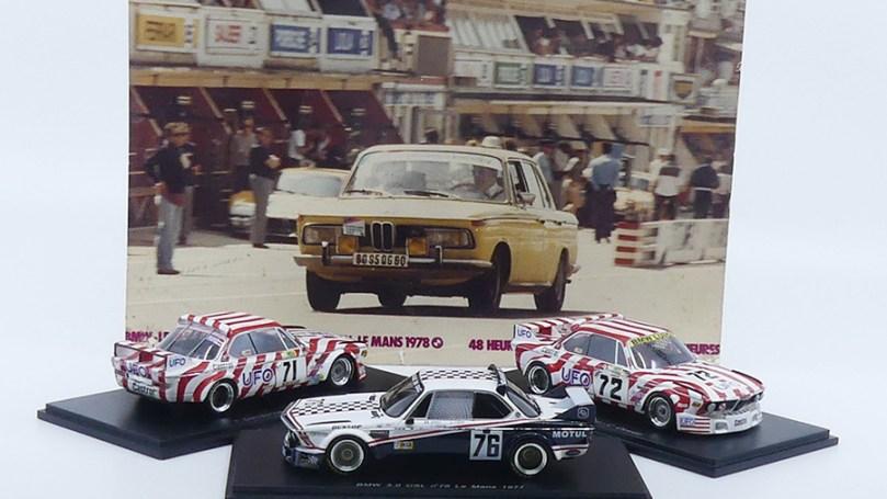 Les trois BMW 3.0CSL lors des 24 heures du Mans 1977