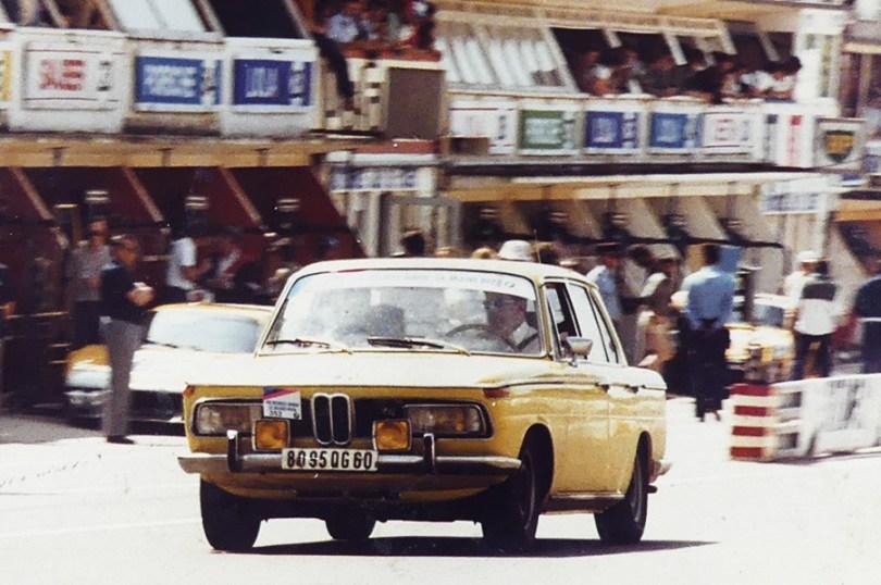 La BMW 2000TII de mon père lors du tour avant le départ des 24 heures du Mans 1978
