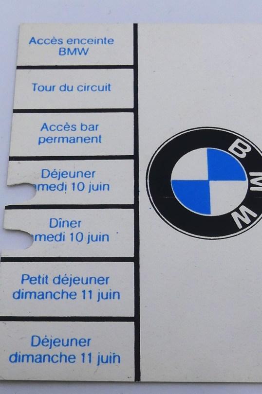 carte BMW des 24 heures du Mans 1978