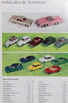 Dinky Toys catalogue professionnel de 1975 avec Simca 1100 et Peugeot 304