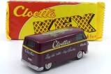 """Tekno Volkswagen Kombi """"Cloetta"""" version récupérée chez Tekno dans leur vitrine identifiable au décalque appliqué sur le chassis"""