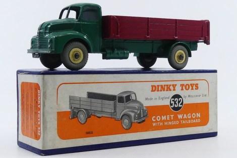 Dinky Toys Leyland Comet ridelles de couleur rouge (jante crème) rare variante
