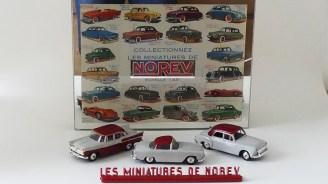 NOREV enseigne lumineuse avec miniatures de couleurs grise et bordeaux