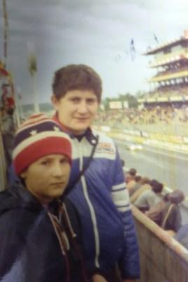 mon frère et moi au 24 heures du Mans 1977 au petit matin