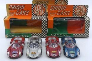 Nacoral (Espagne ) 1/43 Porsche Carrera 6 (modèle en zamac) avec plaques Monza, Montjuich, Jarama et Monte Carlo !