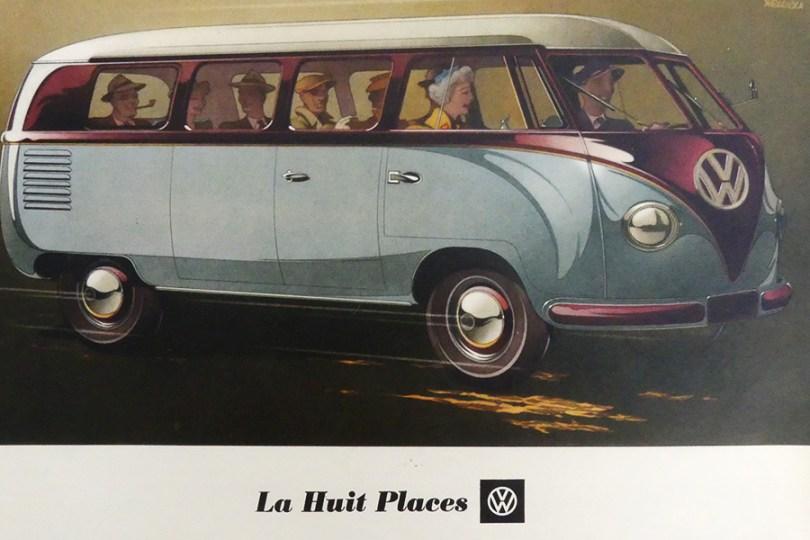 """catalogue publicitaire Volkswagen """"la huit place """" au féminin comme une automobile !"""