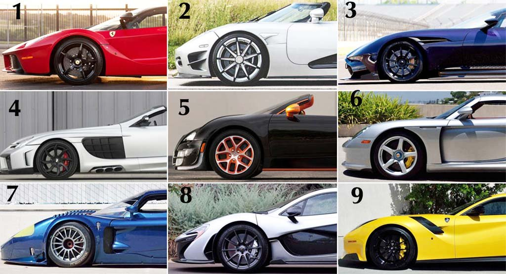 Free Airtime For You If You Can Name All These Sport Cars Photo