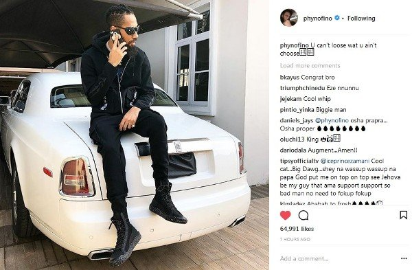 phyno - PHOTOS: 10 Nigerian Celebrities With New Cars In 2018