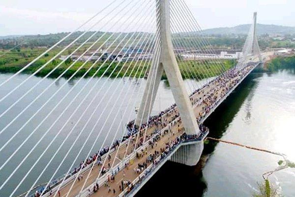 Photos: Uganda Unveils The 5th Longest Suspension Bridge in Africa