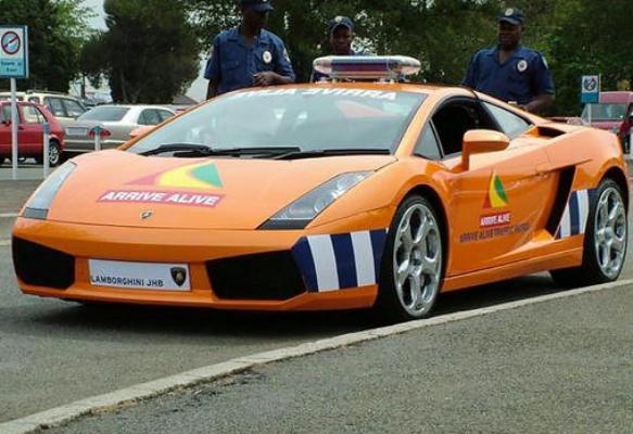 south africa police car