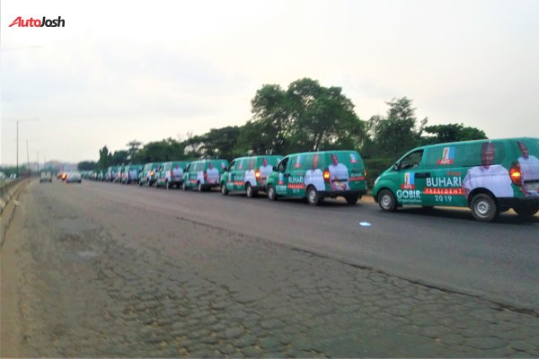 Buhari-Campaign-Cars-7 About 100 Buhari Campaign Buses Spotted In Lagos (Photos)