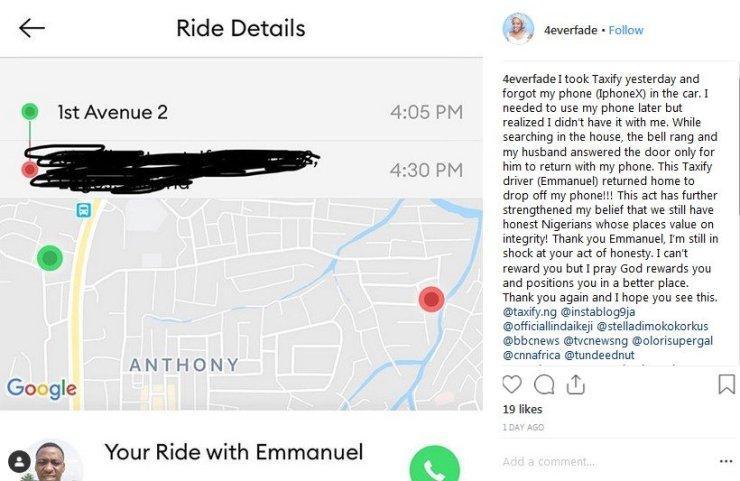 Taxify driver restores iphoneX