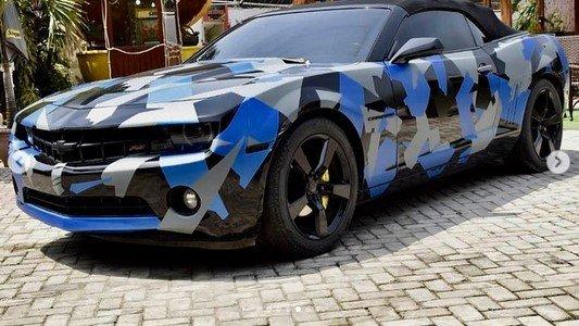 The Custom Wrap On Alexx Ekubo's Chevy Camaro By Khaz