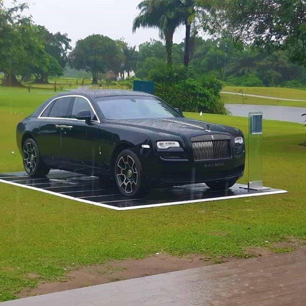 Rolls Royce Black Badge Ghost On Display During Lagos Golf Tournament