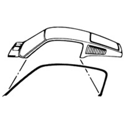WEATHERSTRIP ROOF SIDE RAIL 1967-68 FORD MUSTANG FASTBACK