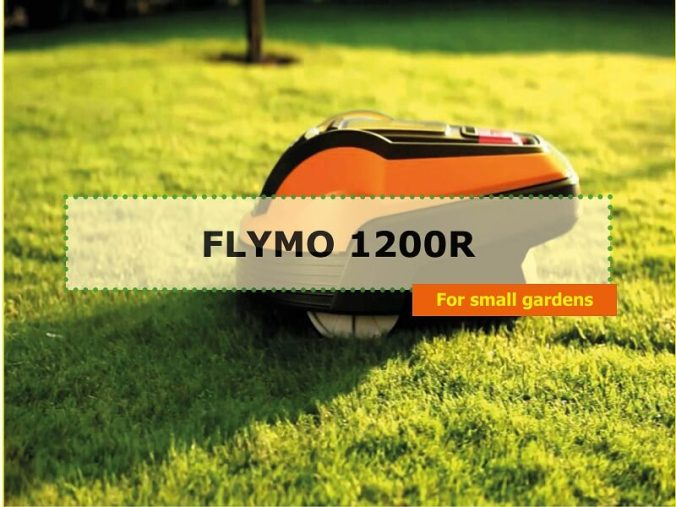Flymo robotic lawn mower photo