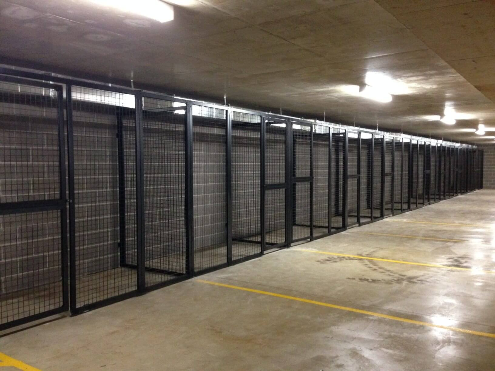 Car Park Storage Boxes  Cages  Sydney Bike Lockers  Partitiions
