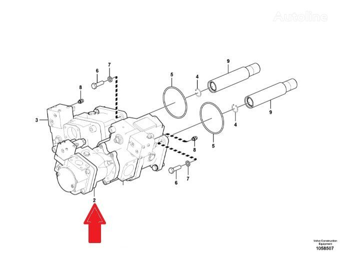 New VOLVO VOE17201756 (VOE17201756) hydraulic motor for