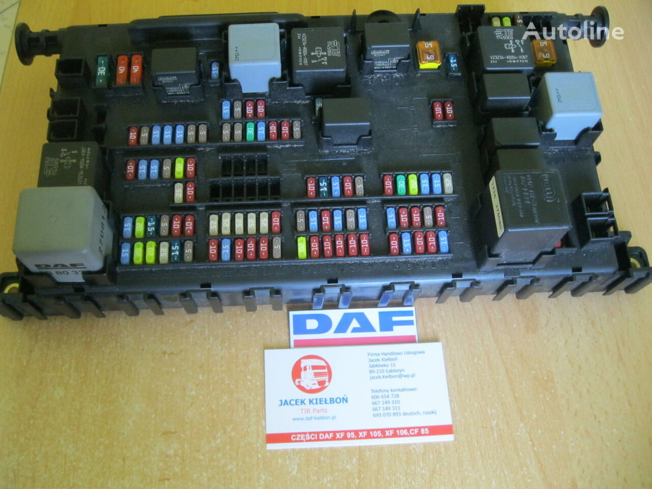 hight resolution of daf fuse block for daf xf 106 tractor unit