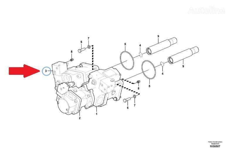 New VOLVO (VOE15172806) hydraulic motor for VOLVO L220G