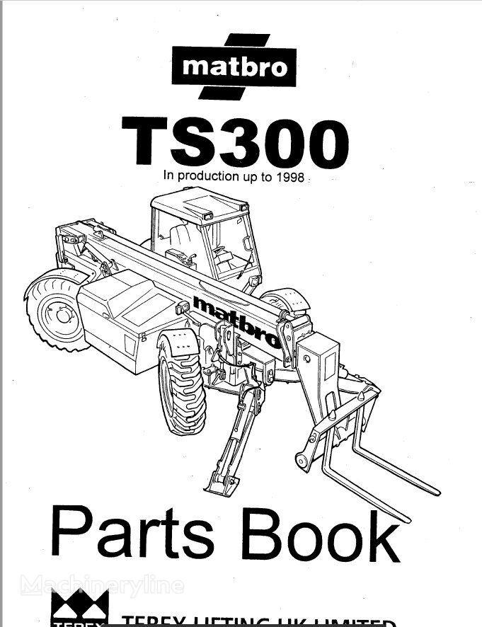 New KATALOG części instruction manual for Matbro TS300
