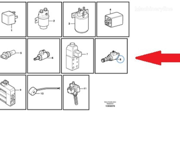Volvo Соленоидный клапан (Solenoid valve) spare parts for