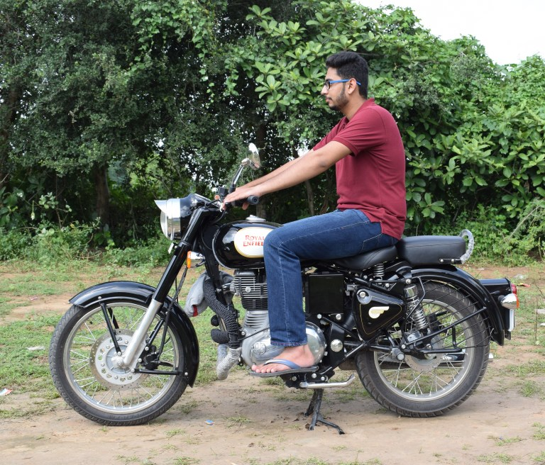 Royal Enfield Classic 350 Sitting Posture