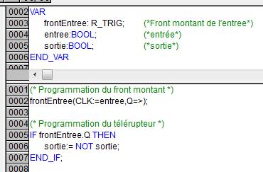 Programmation d'un télérupteur en littéral sous codesys.