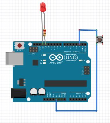arduino led bouton sans resistance