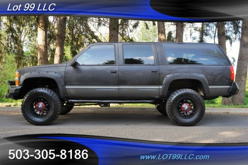 small resolution of 1999 chevrolet suburban k1500 lt 4x4 lifted bumper lifted 18s 35s mint photo 1