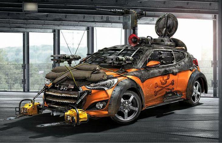 Hyundai Veloster Zombie Survival Machine Nastao Po Uzoru Na Aute