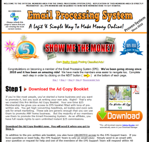 Email Processing System website
