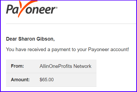 All In One Profits payment
