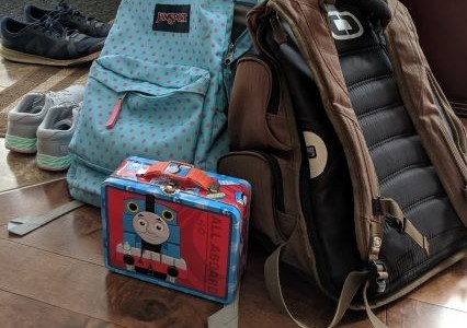 Arrangement of Backpacks