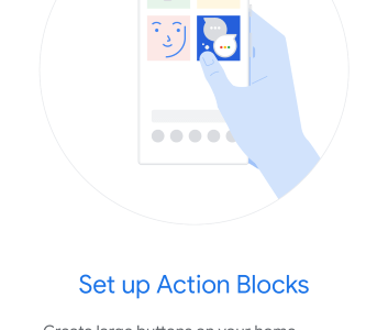 Screenshot of Google Action Blocks Acessiblity Option