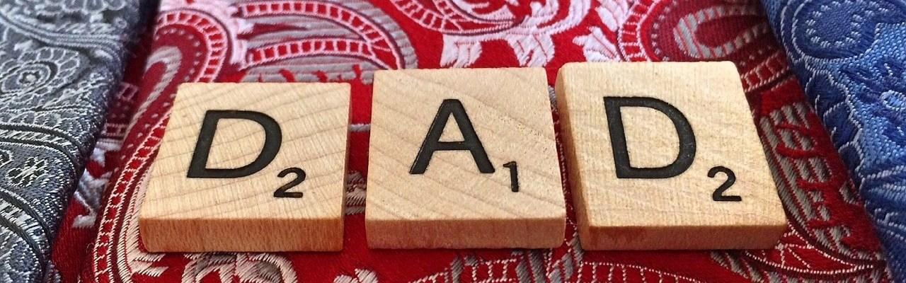 Scrabble Letters Spelling D-A-D