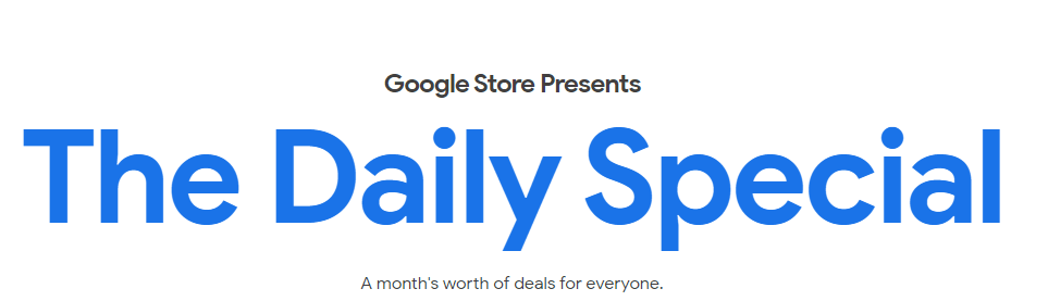 Google Sale Banner : The Daily Special