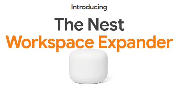 Google Daily Special Banner - The Nest workspace expander, Google sale on nest wifi router and point with nest hub