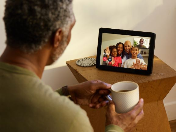 Echo Show making a video call with Grandpa