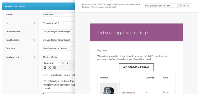 AutomateWoo plugin email preview