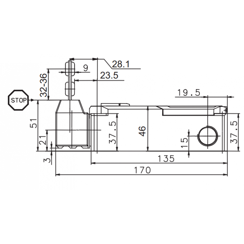 PSEN me1S / 1AS Mechanical safety switch with standard