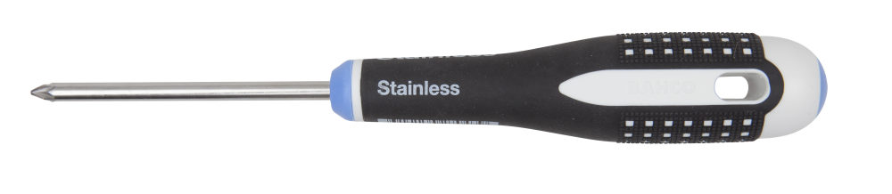A Bahco stainless steel screwdriver suitable for use with Phillips or Pozidriv screws