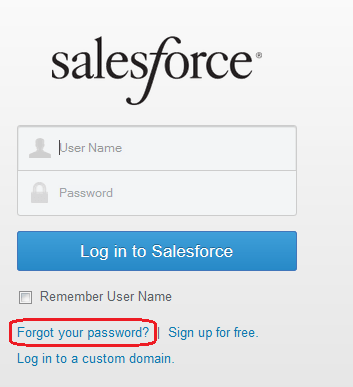 Forgot your password