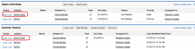 Recurring Tasks created by Salesforce