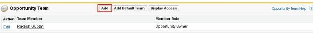 Add Opportunity Team Members - Step 1