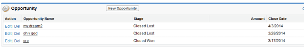 Opportunity stage updated = Closed lost