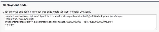 Deployment Code