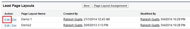 Edit lead page layout