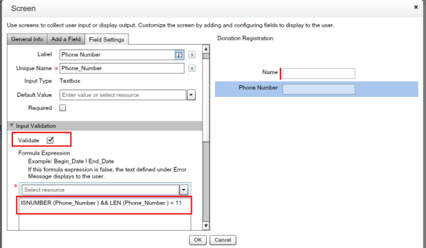 Validation Rule for Phone Number Field